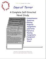 Days of Terror Novel Study Guide