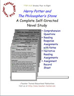 Harry Potter and the Philosopher's Stone Novel Study Guide