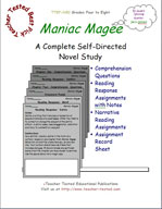 Maniac Magee Novel Study Guide