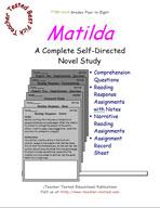 Matilda Novel Study Guide