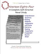 Nineteen Eighty-Four Novel Study Guide