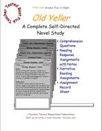 Old Yeller Novel Study Guide