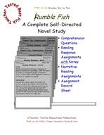 Rumble Fish Novel Study Guide