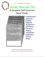 Sarah, Plain and Tall Novel Study Guide