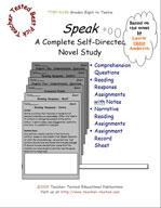 Speak Novel Study Guide
