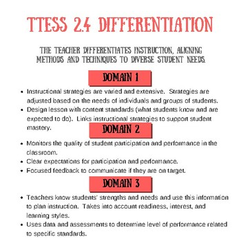 TTESS 2.4 Differentiation