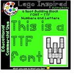TTF Font - Building Block 6 Spot - Lego Inspired - Commerc