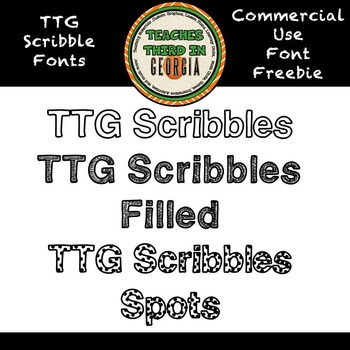 TTG Scribble Fonts Freebie! Commercial Use