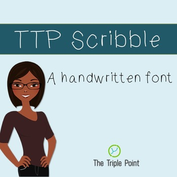 TTP Scribble - handwritten font for personal and commercial use