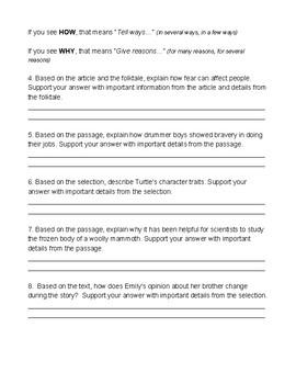 TTQA--Turn the Question Around Practice Worksheet