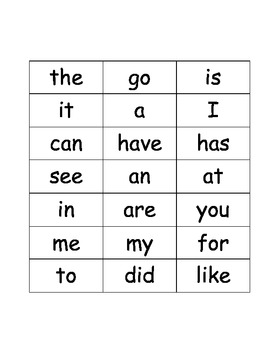 TTT Sight Words