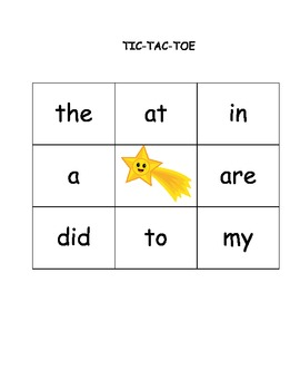 TTT Sight Words