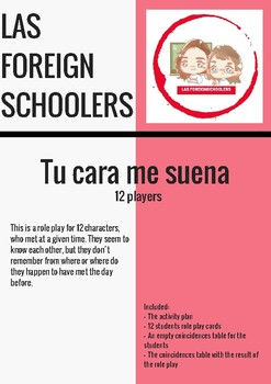 TU CARA ME SUENA  (12 students role play)
