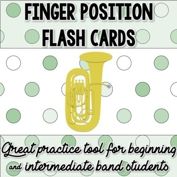 BBb TUBA Fingering Flash Cards