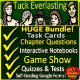 Tuck Everlasting Novel Study -  Printable AND Google Ready w/ Self-Grading Tests