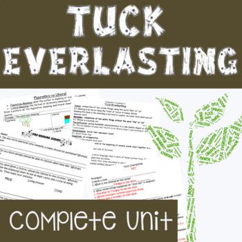 TUCK EVERLASTING Complete Unit (Figurative Language & Common Core Aligned)