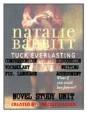 TUCK EVERLASTING Comprehension/Assessment/Vocabulary/Writing Novel Study Unit