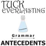 TUCK EVERLASTING Grammar Pronouns & Antecedents