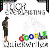 TUCK EVERLASTING Journal - Quickwrite Writing (Created for Digital)
