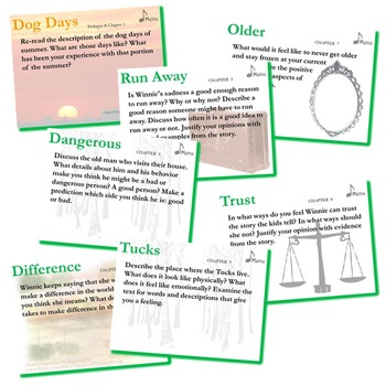 TUCK EVERLASTING Journal - Quickwrite Writing Prompts - PowerPoint