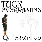 TUCK EVERLASTING Journal - Quickwrite Writing Prompts - Po
