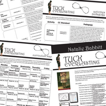 TUCK EVERLASTING Unit Novel Study - Literature Guide