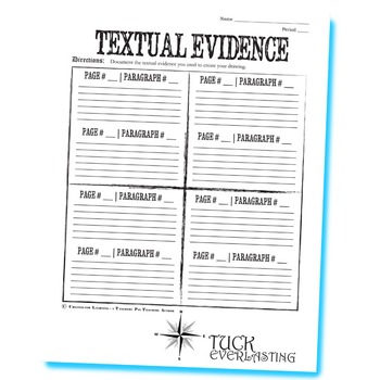 TUCK EVERLASTING Wanted Poster Activity