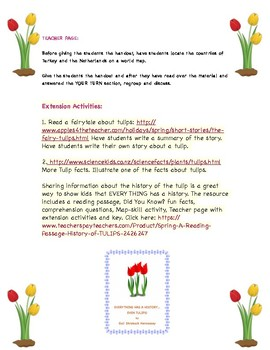 TULIPS: A Sign of Spring(FREEBIE)