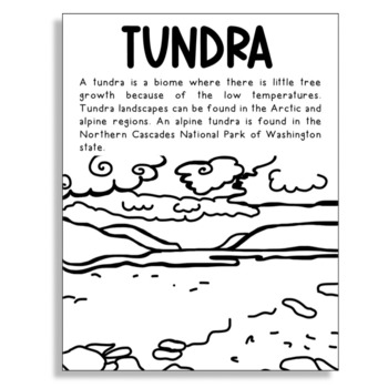 TUNDRA - BIOMES AND LANDFORMS Coloring Page for Craft Projects and  Activities