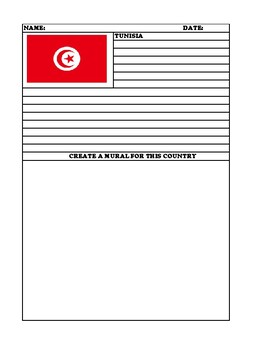 TUNISIA Summary Writing and Mural Assignment
