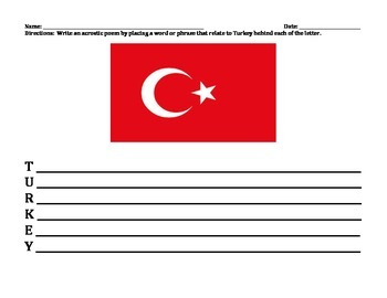 TURKEY UNIT (GRADES 4 - 8)