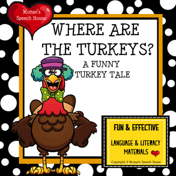 TURKEY BOOK & PACKET language AAC PECS