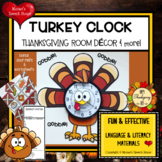 TURKEY CLOCK ROOM DECOR THANKSGIVING