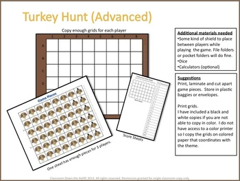 TURKEY HUNT (Advanced)