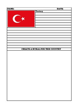 TURKEY Summary Writing and Mural Assignment