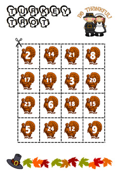 TURKEY TROT {Counting Game!}