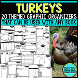 TURKEYS | Graphic Organizers for Reading | Reading Graphic Organizers