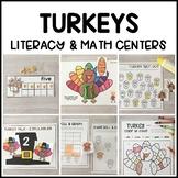 TURKEYS Literacy & Match Centers (Preschool, PreK, Kindergarten)