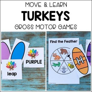 TURKEYS Move & Learn Gross Motor Games for Preschool, Pre-K, & Kinder