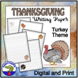 TURKEYS Writing Paper - Lined Paper - Turkeys Theme