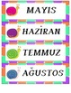 TURKISH CALENDAR NUMBER CARDS- SNAIL THEME - TURCE