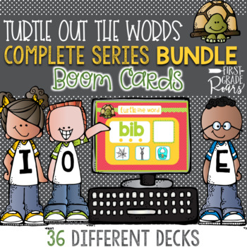 TURTLE OUT THE WORD DIGITAL Task BOOM CARDS BUNDLE