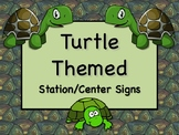 TURTLE Themed Station/Center Signs - Great Classroom Management!  ADORABLE!