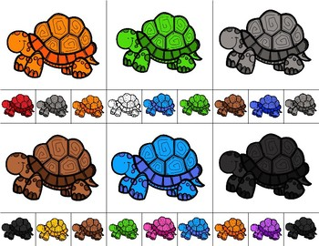 TURTLES Color Match Clip It {A Beginning Work Task)