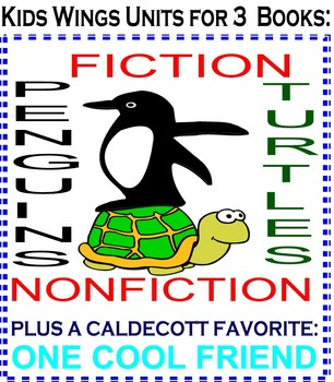 TURTLES and TURTLE'S PENGUIN DAY!  Plus ONE COOL FRIEND! FICTION and NONFICTION