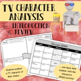 TV Character Analysis Hook or Review Activity with Bingo!