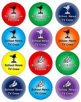 TV Crew / TV Studio School News Program Set-up and Materials