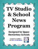 TV Crew / TV Studio School News Program Set-up and Materials