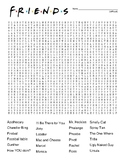 TV Friends show - difficult word search and coloring page   (SUB PLAN use?)