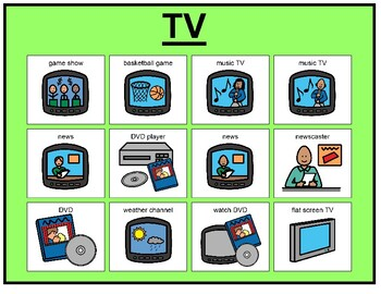 TV Matching Board Game!